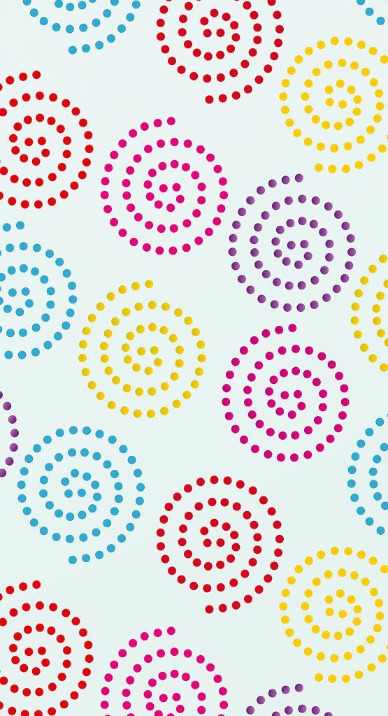 Small Dotty Spiral Stencil Henny Donovan Motif