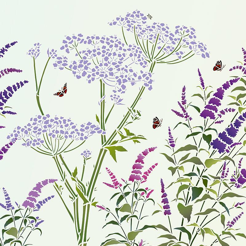 Wild Flower Stencils