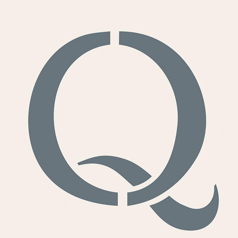 capital letter q henny donovan motif