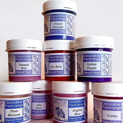 Pink, Red & Purple Stencil Paints