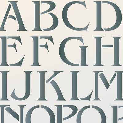 Individual Large Capital Letter Stencils A-Z