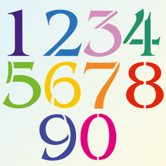 Individual Large Number Stencils 0 - 9
