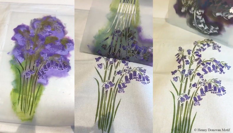 Bluebell-fabric-stencilling