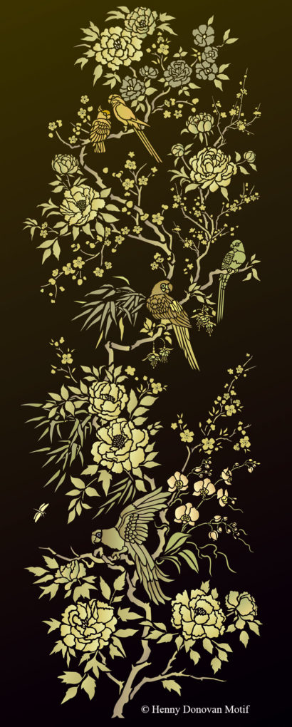 Parrot-and-peony-panel-stencil-G36