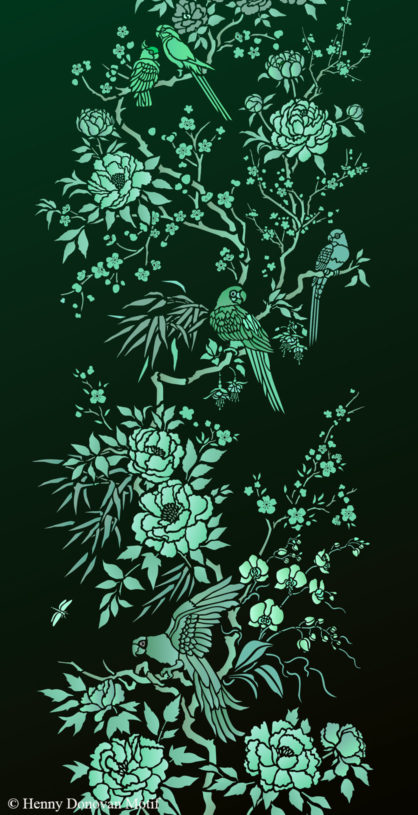 Parrot-and-peony-panel-stencil-G37