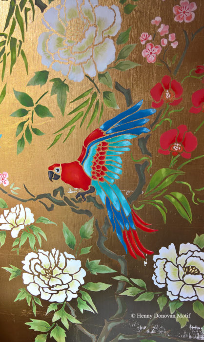 Parrot-and-peony-panel-stencil-H6