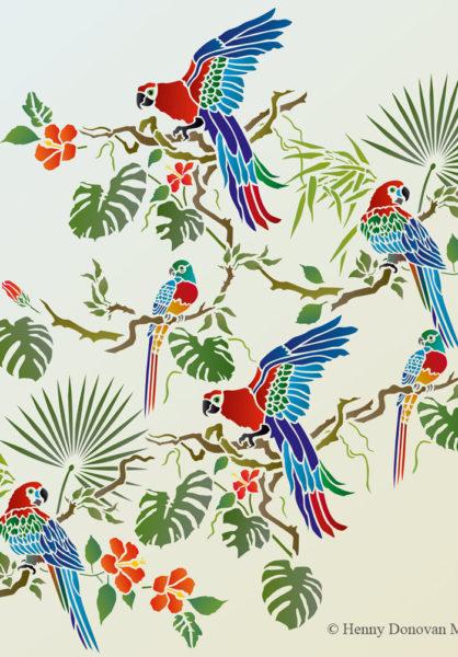 Parrot-theme-pack-stencil-G1