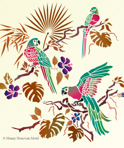 Parrot-theme-pack-stencil-G8