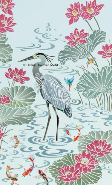 Heron-2-stencil-copyright-Henny-Donovan-Motif-G6B