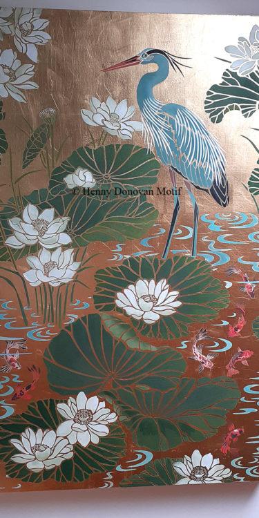 Japanese-Koi-Little-Stencil-copyright-Henny-Donovan-Motif-P1