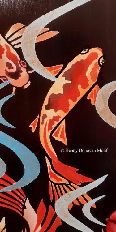 Japanese-Koi-Medium-Stencil-copyright-Henny-Donovan-Motif-P3