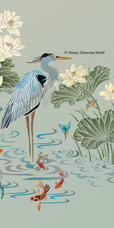 Lotus-Waterlily-Stencil-3-copyright-Henny-Donovan-Motif-G10