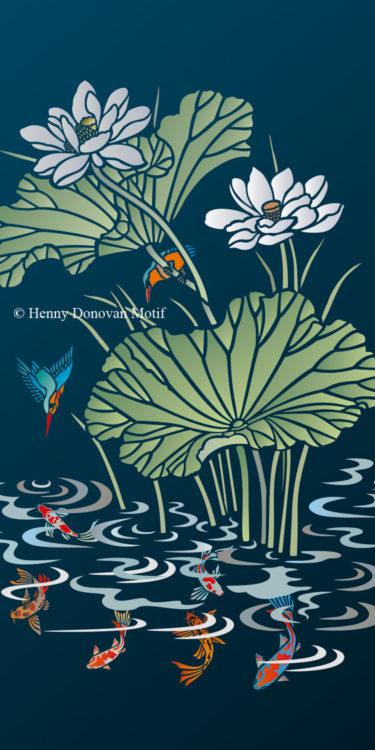 Lotus-Waterlily-Stencil-3-copyright-Henny-Donovan-Motif-G9