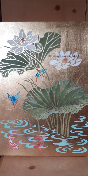 Lotus-Waterlily-Stencil-3-copyright-Henny-Donovan-Motif-P1