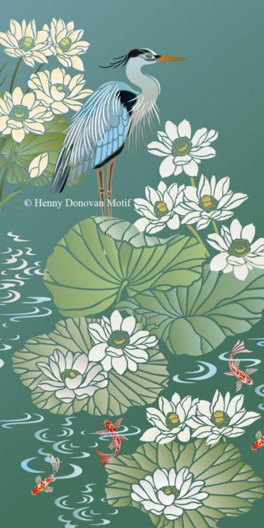 Lotus-Waterlily-Stencil-4-copyright-Henny-Donovan-Motif-G10