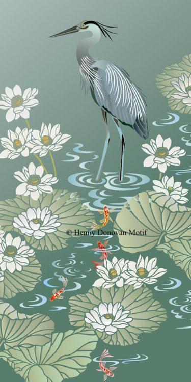 Lotus-Waterlily-Stencil-4-copyright-Henny-Donovan-Motif-G5