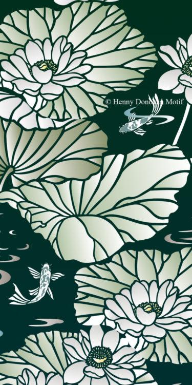 Lotus-Waterlily-Stencil-4-copyright-Henny-Donovan-Motif-G6