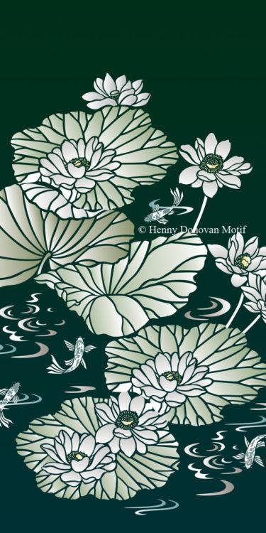 Lotus-Waterlily-Stencil-4-copyright-Henny-Donovan-Motif-G7