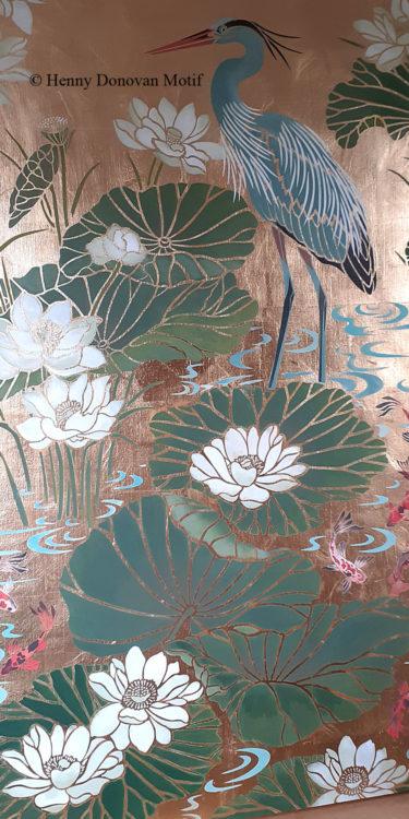 Lotus-Waterlily-Stencil-4-copyright-Henny-Donovan-Motif-P2