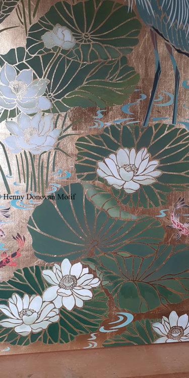 Lotus-Waterlily-Stencil-4-copyright-Henny-Donovan-Motif-P3