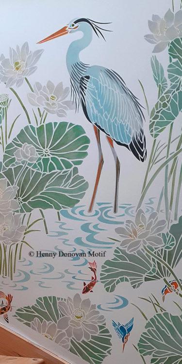 Lotus-Waterlily-Stencil-4-copyright-Henny-Donovan-Motif-P5